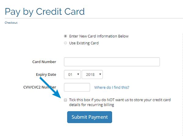 אי שמירת פרטי אשראי במערכת