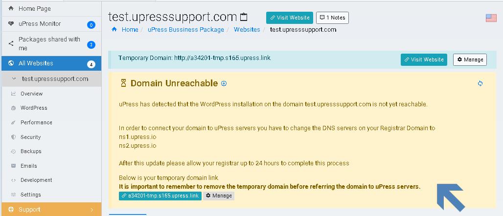 Awaiting domain verification